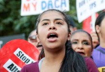 """#DefendDACA: The Obama-era Daca programme protects hundreds of thousands of so-called """"Dreamers"""" from deportation and provides work and study permits"""