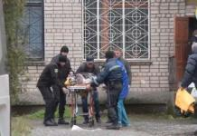 Ukraine Victims of the court explosion taken to the hospital