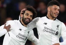 Mohamed Salah played his 100th game for Liverpool and capped it with a goal