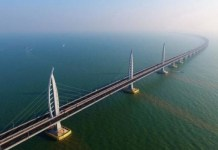 The 55-kilometre-long bridge links Hong Kong, Zhuhai and Macao
