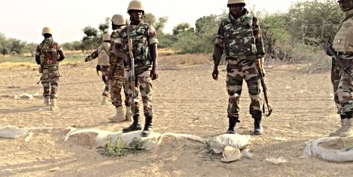 Army recovers 63 bags of Indian hemp