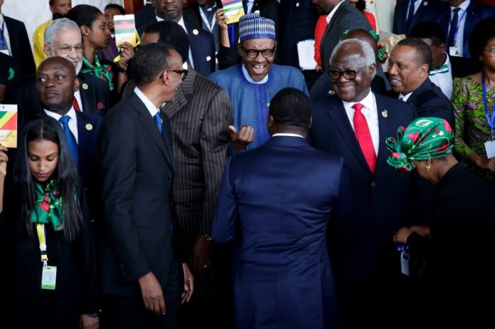 African leaders at an African Union Summit in Addis Ababa, Ethiopia