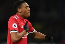 Anthony Martial scored a penalty as Manchester United beat Partizan Belgrade