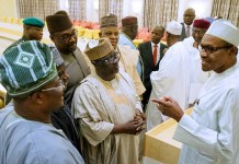 President Muhammadu Buhari met with APC governors at the Presidential Villa on Thursday