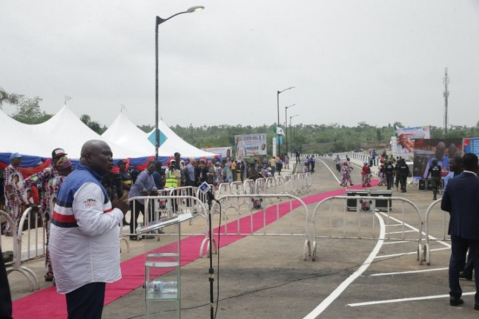 FILE: Governor Akinwunmi Ambode has flagged off the expansion of the ABAT Truck Terminal in Orile Iganmu to ease Apapa congestion