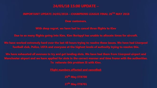 Worldchoice Sports have left hundreds of Liverpool fans stranded for the Champions League final after flight cancellation