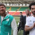 Chechnyan leader Ramzan Kadyrov pictured with Liverpool star Mohamed Salah