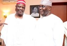 Former Kano governor Rabiu Kwankwaso and Atiku Abubakar