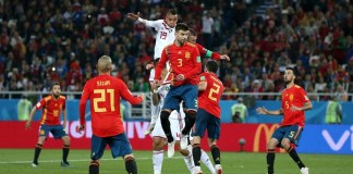Youssef En-Nesyri scored a brilliant header to give Morocco a 2-1 lead against Spain