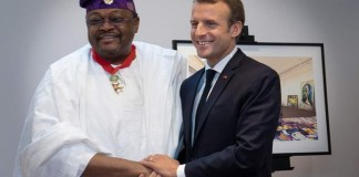 Globacom chairman, Dr Mike Adenuga Jr. was awarded on Wednesday, 4th July 2018 the highest national honour of commander of the Legion of honour by the French president, Emmanuel Macron