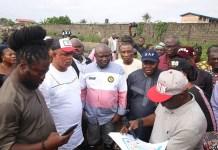 Governor Akinwunmi Ambode visited Maracana Stadium in Ajegunle, Lagos