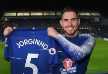 Jorginho has signed a five year deal at Chelsea