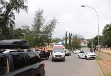 Police operatives barricade Senator Bukola Saraki's home