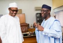 President Muhammadu Buhari and Pastor Tunde Bakare