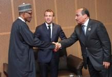 President Muhammadu Buhari and President Emmanuel Macron hold bilateral talks in Abuja