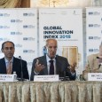 WIPO Director General Francis Gurry, INSEAD's Bruno Lanvin and Cornell MBA's Soumitra Dutta present the Global Innovation Index 2018