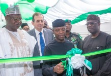 Acting President Yemi Osinbajo launches the Nigeria Climate Innovation Centre (NCIC)