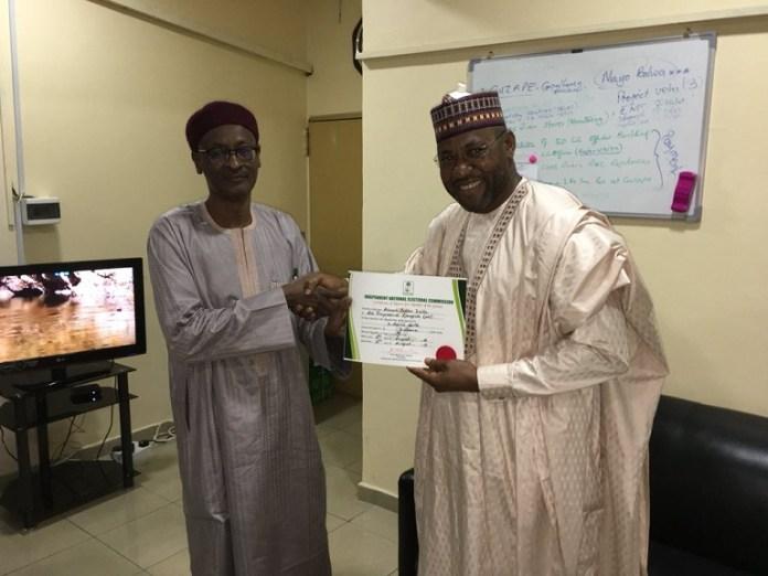 Ahmad Babba Kaita won the Katsina North Senatorial District and has been issued a certificate of return