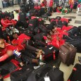 African athletes have been stranded at Lagos airport for more than two days