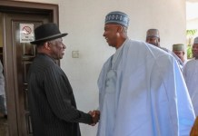 President Goodluck Jonathan received Senator Bukola Saraki at his Maitama Office in Abuja