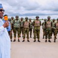 President Muhammadu Buhari met with troops of the Operation Diran Mikiya in Katsina