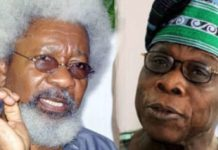 Prof Wole Soyinka has dared former President Olusegun Obasanjo to swear that he never awarded oil blocks in exchange for sex