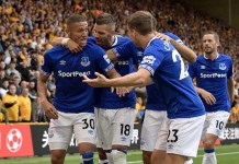 Richarlison scored twice as Everton drew Wolves 2-2