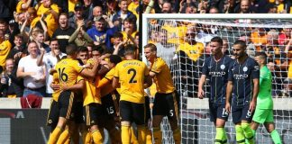 Wolves played a 1-1 draw with English Premier League champions Manchester City