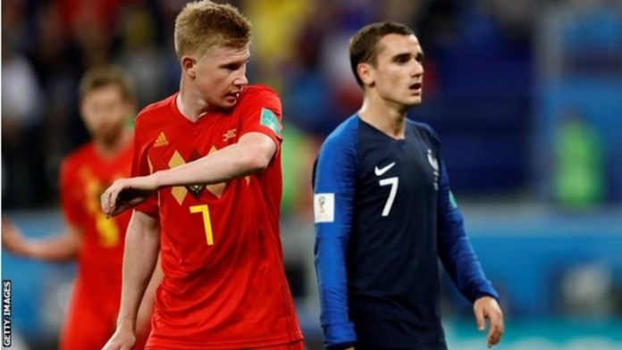 France and Belgium are joint leaders in the latest FIFA rankings