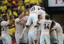 Manchester United beat Watford away to climb to top ten of the Premier League