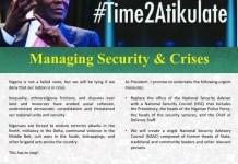 On #Time2Atikulate, former Vice President Atiku Abubakar says he will manage security and crises