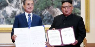 Moon Jae-in and Kim Jong-un has signed a joint statement in Pyongyang