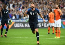 Olivier Giroud scored a stunning winner as France beat Holland