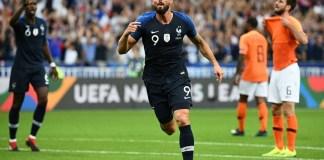 Olivier Giroud scored a stunning winner as France beat Holland