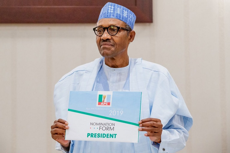 President Muhammadu Buhari is seeking a second term