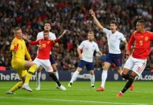 Rodrigo took advantage of a static England defence to side-foot in the winner from a free-kick
