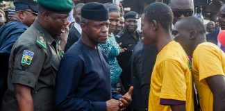 Vice President Yemi Osinbajo in Bauchi state for the National MSME Clinics and launch of Trader Moni