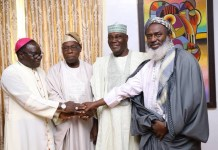 Bishop Mathew Kukah, Chief Olusegun Obasanjo, Atiku Abubakar and Sheikh Ahmed Gumi