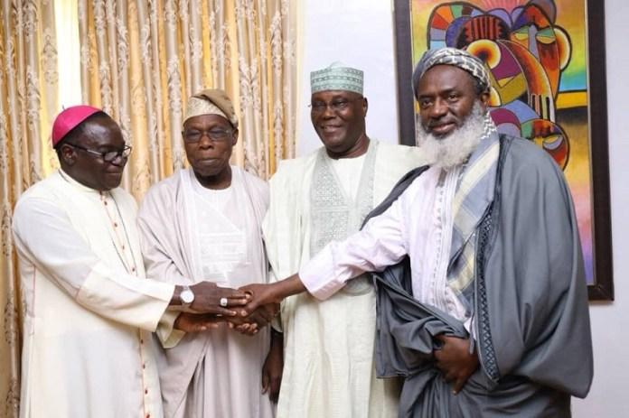 Bishop Mathew Kukah, Chief Olusegun Obasanjo, Atiku Abubakar and Sheikh Ahmed Gumi