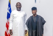President George Weah has praised Vice President Yemi Osinbajo for his outstanding leadership skills