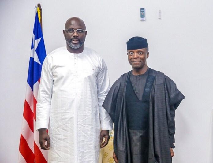 President George Weah has praised Vice President Yemi Osinbajo for his outstanding leadership skills