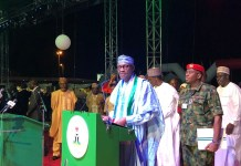 President Muhammadu Buhari paid tribute to Asiwaju Bola Tinubu at the APC national convention