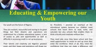 Atiku Abubakar says he will invest heavily in Nigerian youths when elected President in 2019