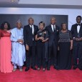 L-R: Former Non-Executive Director, United Bank for Africa (UBA) Group, Mr. Yahaya Zekeri and wife, Clara; Former Non-Executive Director, Alhaji Jaafaru Paki; Group Chairman, Mr. Tony Elumelu; Former Non-Executive Director, Mrs. Rose Okwechime; GMD-CEO, Mr. Kennedy Uzoka; Former Non-Executive Director, Ambassador Adekunle Olumide and wife, Emeritus Professor Mercy Olumide; and Deputy Managing Director(DMD), Mr. Victor Osadolor during the send forth cocktail and dinner held by the Bank for the former Non-Executive Directors, held at Transcorp Hilton, Abuja on Friday