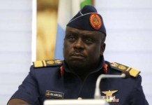 Air Marshall Adesola Amosu was rearraigned for fraud by the EFCC