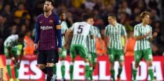 Barcelona lost for the first time in the league since 10 September 2016