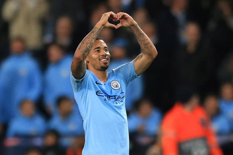 Gabriel Jesus scored a hat-trick as Manchester City beat Shahktar Dontesk 6-0