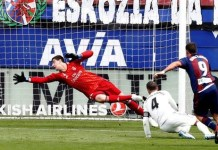 Sergi Enrich's goal was the third of the season for Eibar