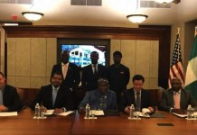 Transportation Minister Rotimi Amaechi signs railway concession agreement with General Electric, AMP Terminals and Transnet