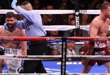 Rocky Fielding looked resigned to defeat with each knockdown but continued until round three